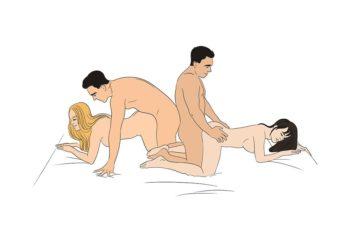 Für dreier stellungen Silver Sex
